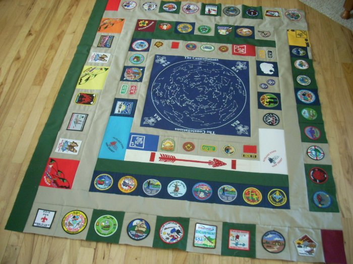 boy scout quilt project