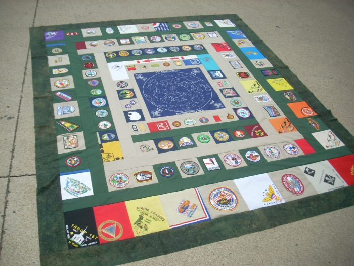 boy scout quilt finish