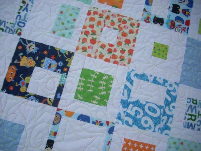 bright baby boy quilt