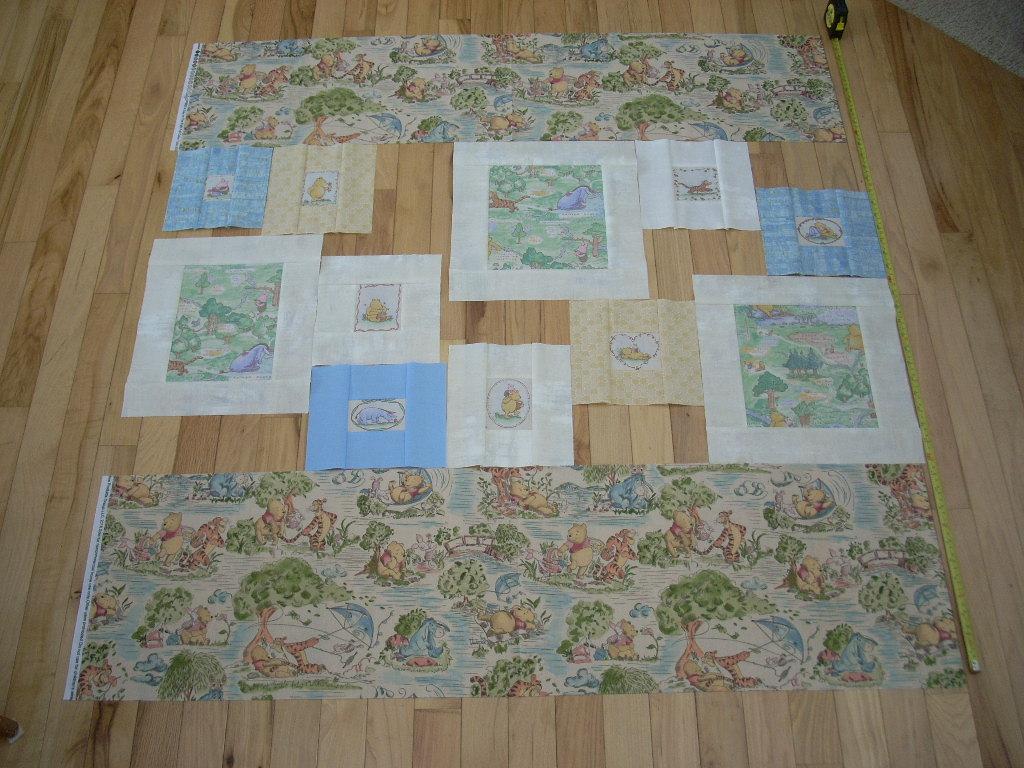 let's build a pooh quilt
