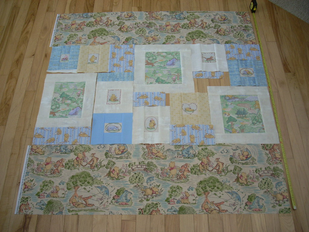 let's build a pooh quilt