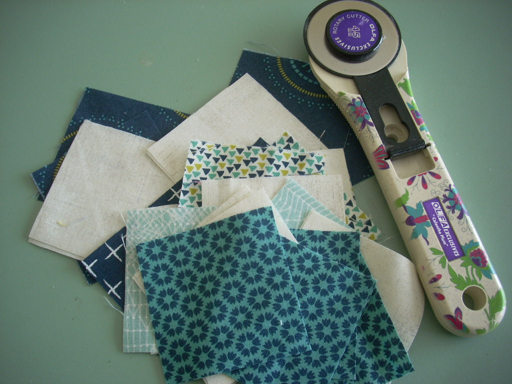 sewing a little centerpiece