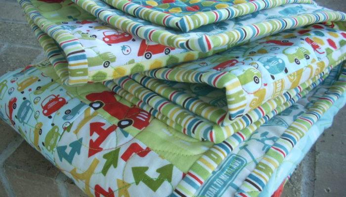 retro boy's quilt