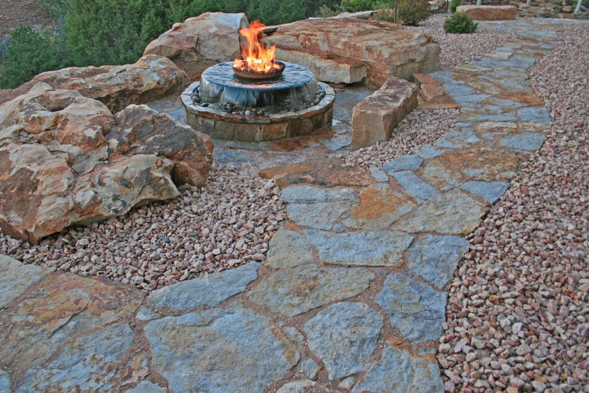 natural stone walkways stone patios