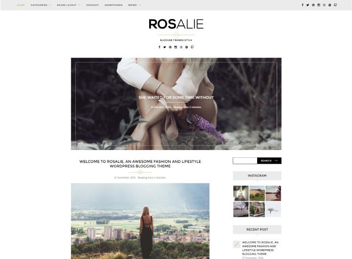 rosalie-wordpress-theme-lifestyle