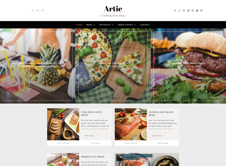 artie-wordpress-theme-food