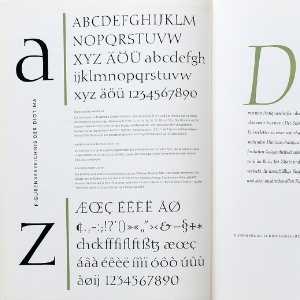 Book with Hesse Antique font