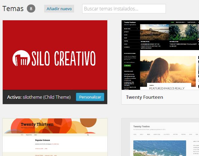 Editar CSS con tema hijo WordPress