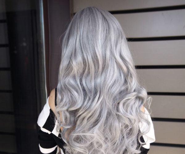 Cabello gris perla