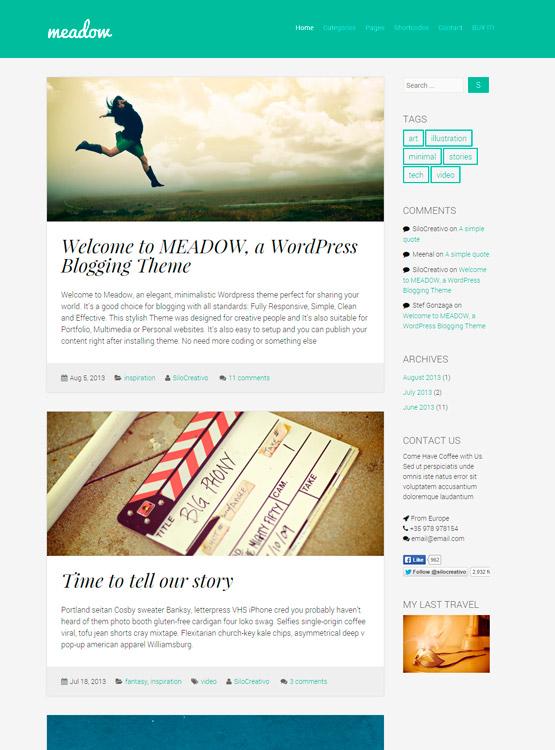Meadow - Tema Wordpress para Blogs con Estilo • Silo Creativo