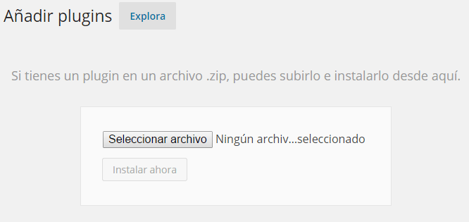 Instalar plugin desde zip a WordPress