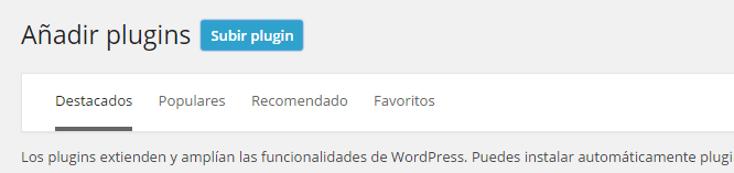subir plugin a WordPress