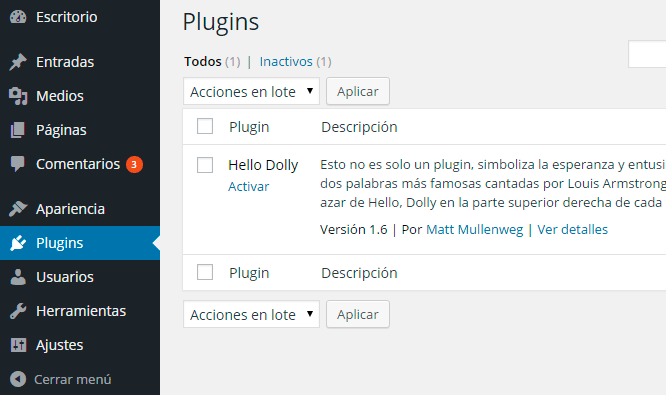 Plugins en WordPress Multisite