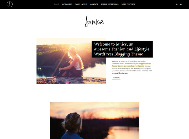 janice-wordpress-blog-lifestyle