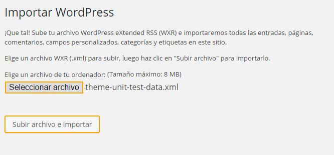 Cómo Importar Contenido de Prueba en WordPress • Silo Creativo