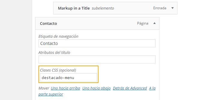 anadir Clase CSS a página WordPress