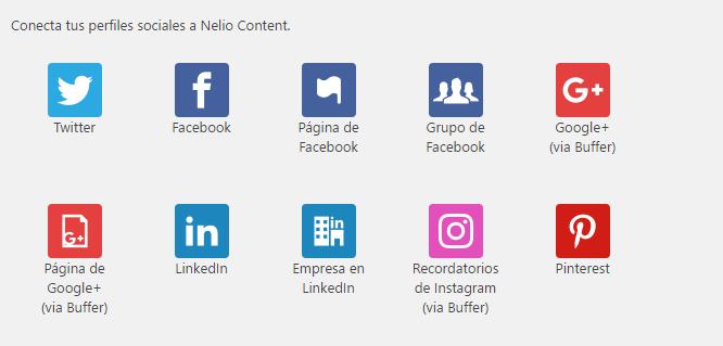 Nuevas redes sociales Nelio Content