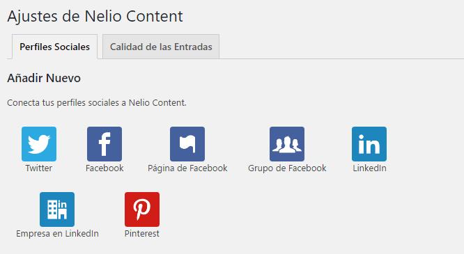 Redes sociales Nelio Content