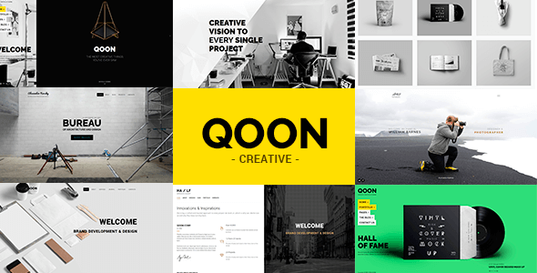 Qoon Plantilla Portfolio con opciones