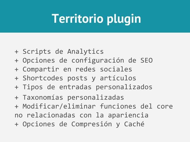 Territorio plugin en temas WordPress