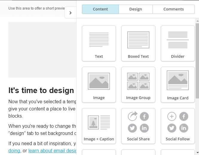 Diseño de plantilla Newsletter con Mailchimp