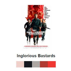 Paleta de colores de posters de películase