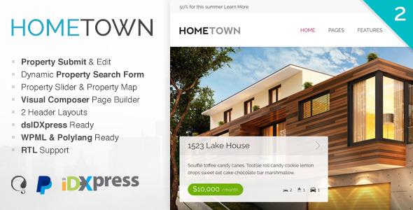 Hometown, plantilla WordPres para Agencias Inmobiliarias