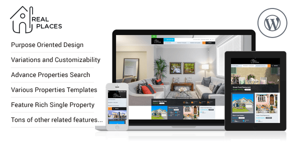 Real Places, plantilla WordPres para Agencias Inmobiliarias