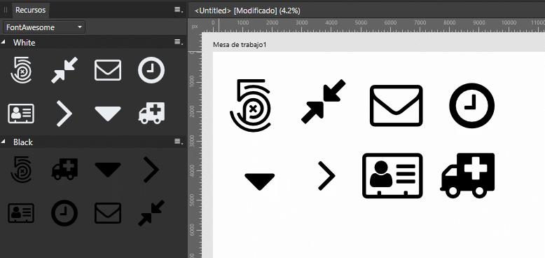 Recursos personales de Font Awesome