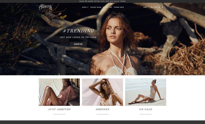 Parallax, plantilla para Shopify