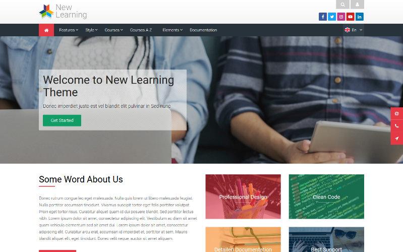 Nouvel apprentissage, Plantilla Educativa Para Moodle
