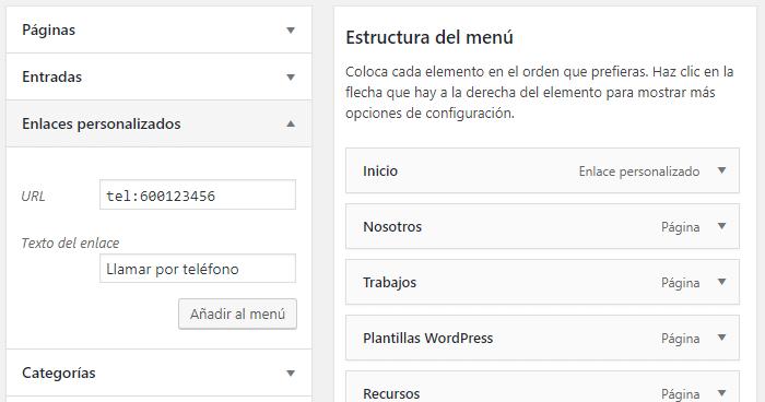 Comment créer un lien HTML vers le téléphone dans WordPress
