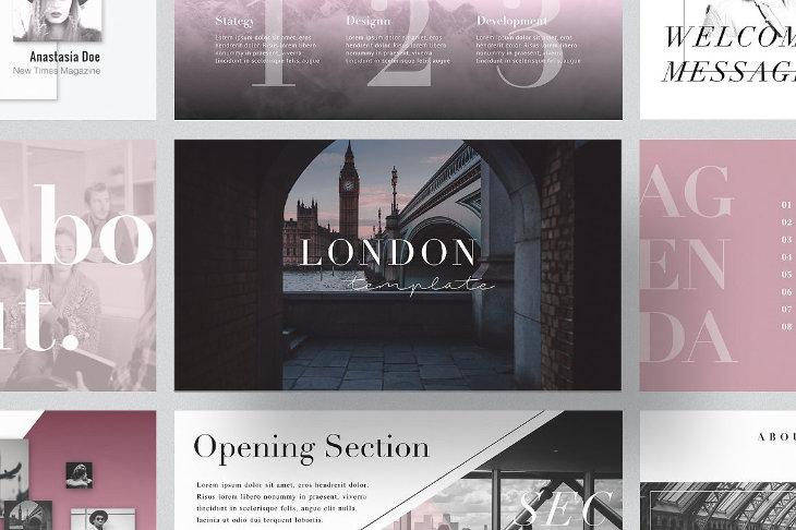 London, plantilla original para PowerPoint