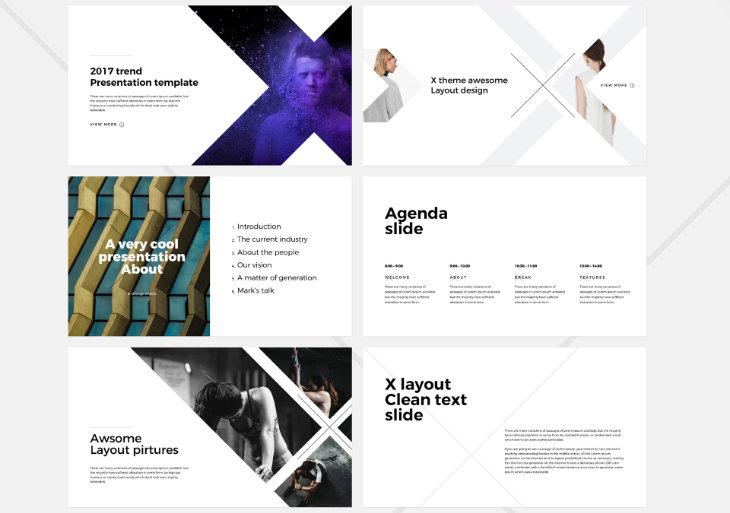 X, plantilla original para PowerPoint
