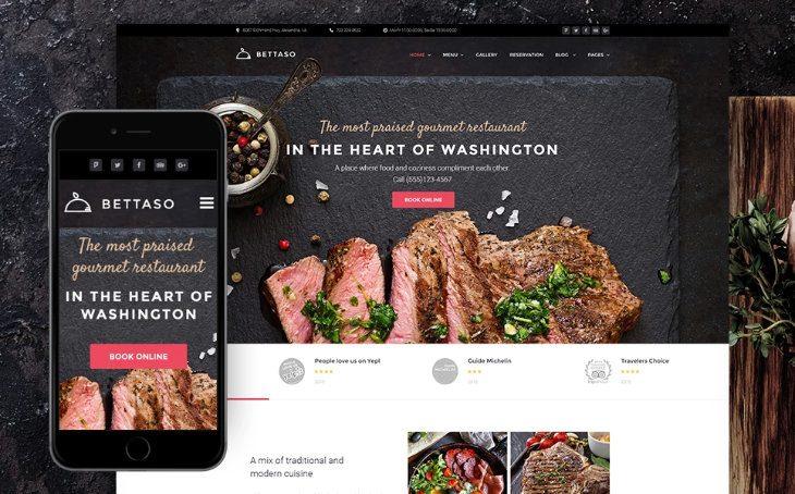 Bettaso, plantilla WordPress para restaurantes