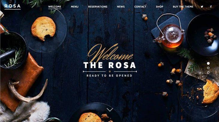 Rosa, plantilla WordPress para restaurantes