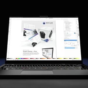 ordenador portatil con inkscape en pantalla