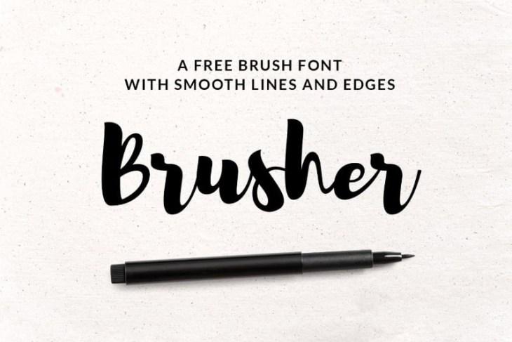 Brusher, tipografía estilo handwritting