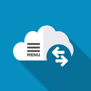 nube con icono de menú