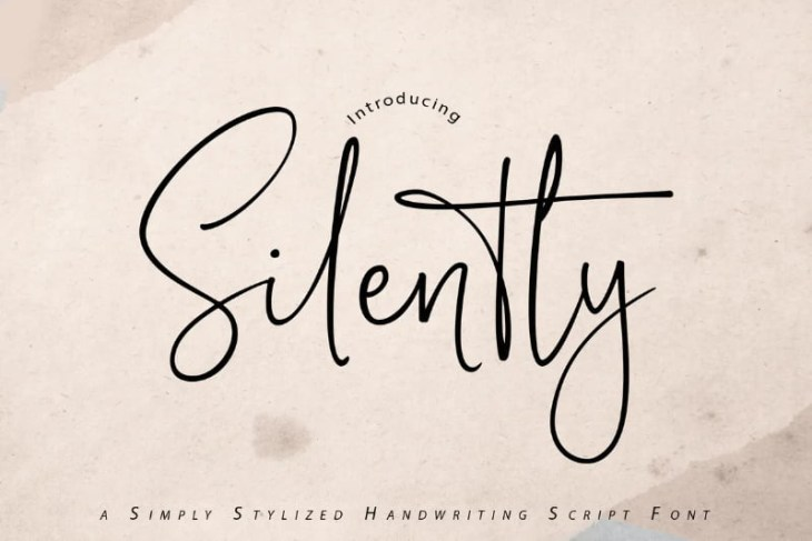 Silently, tipografía estilo handwritting