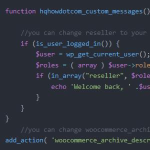 código con snippets para woocommerce