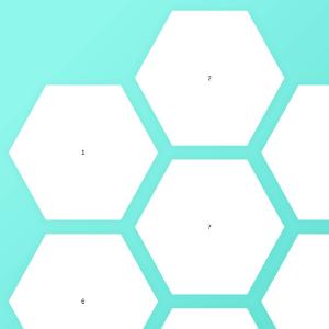 malla hexagonal creada con css grid