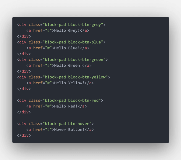 codigo html botones neumorfismo