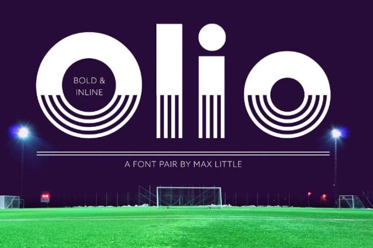 Olio Font Pair, tipografía geométrica para tus proyectos