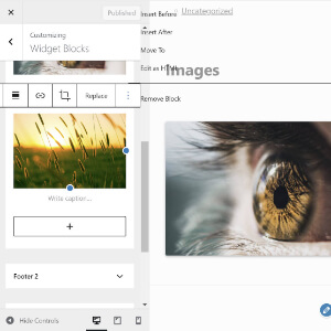 widgets creados con bloques gutenberg en wordpress