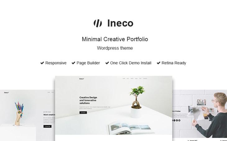 Ineco, plantilla WordPress minimalista