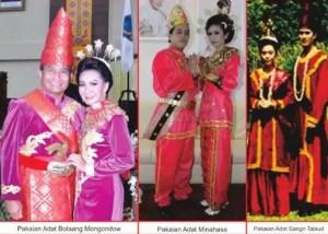 5 Pakaian Adat Tradisional Sulawesi Utara, Gambar dan Penjelasannya