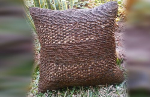 Coussin desire Marron collection cahaya Sil'ouette design madagascar