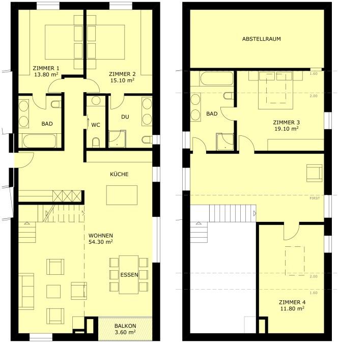 Grundriss Wohnung 6.3