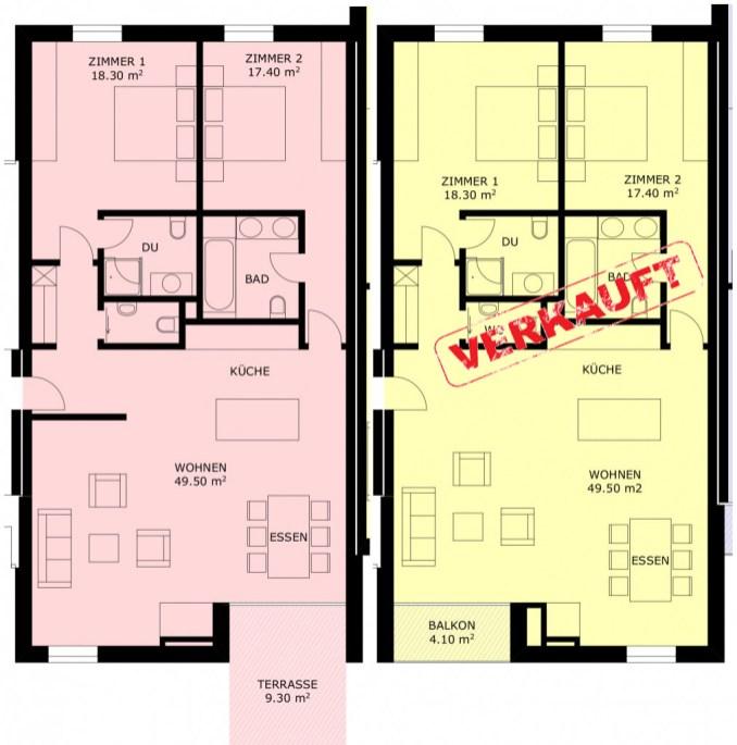 3 1/2 Zimmer Wohnung in Sils
